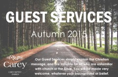 Guest Services Autumn 2015